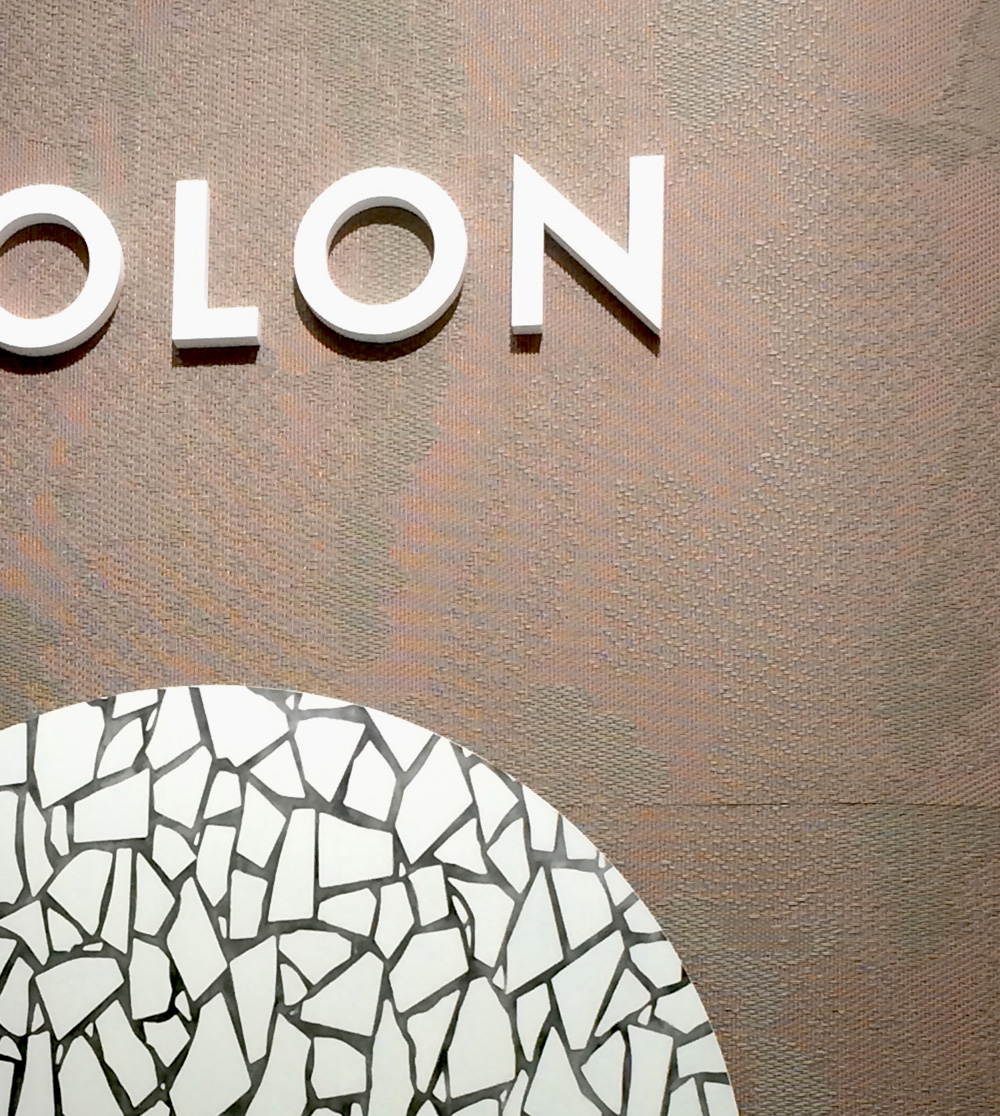 Bolon's booth.