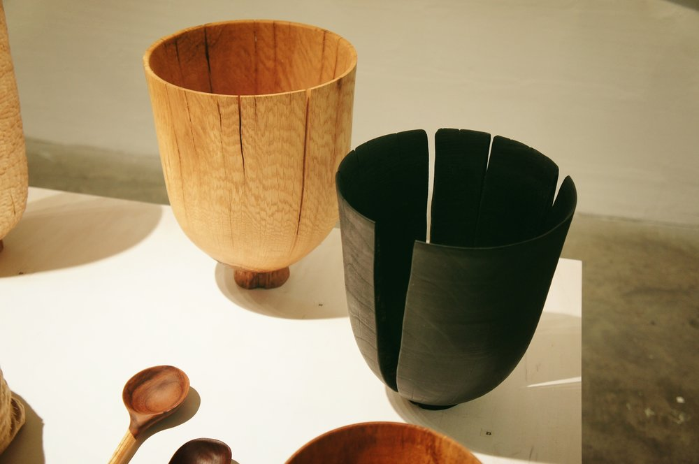 Splits are okay. It is not an imperfection, but beauty of a living material. Vessels by Forest + Found