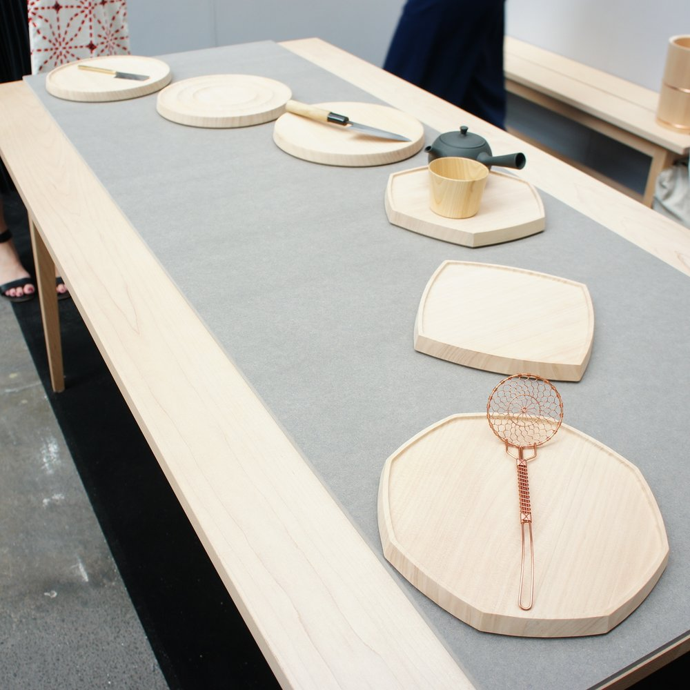 Serving ware and cutting boards by  Native & Co