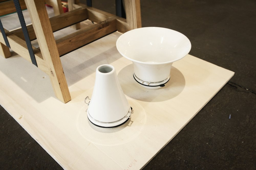 Interchangeable tops using simple attachment system from canning jars. FlexVase by  Vij5  @ London Design Fair