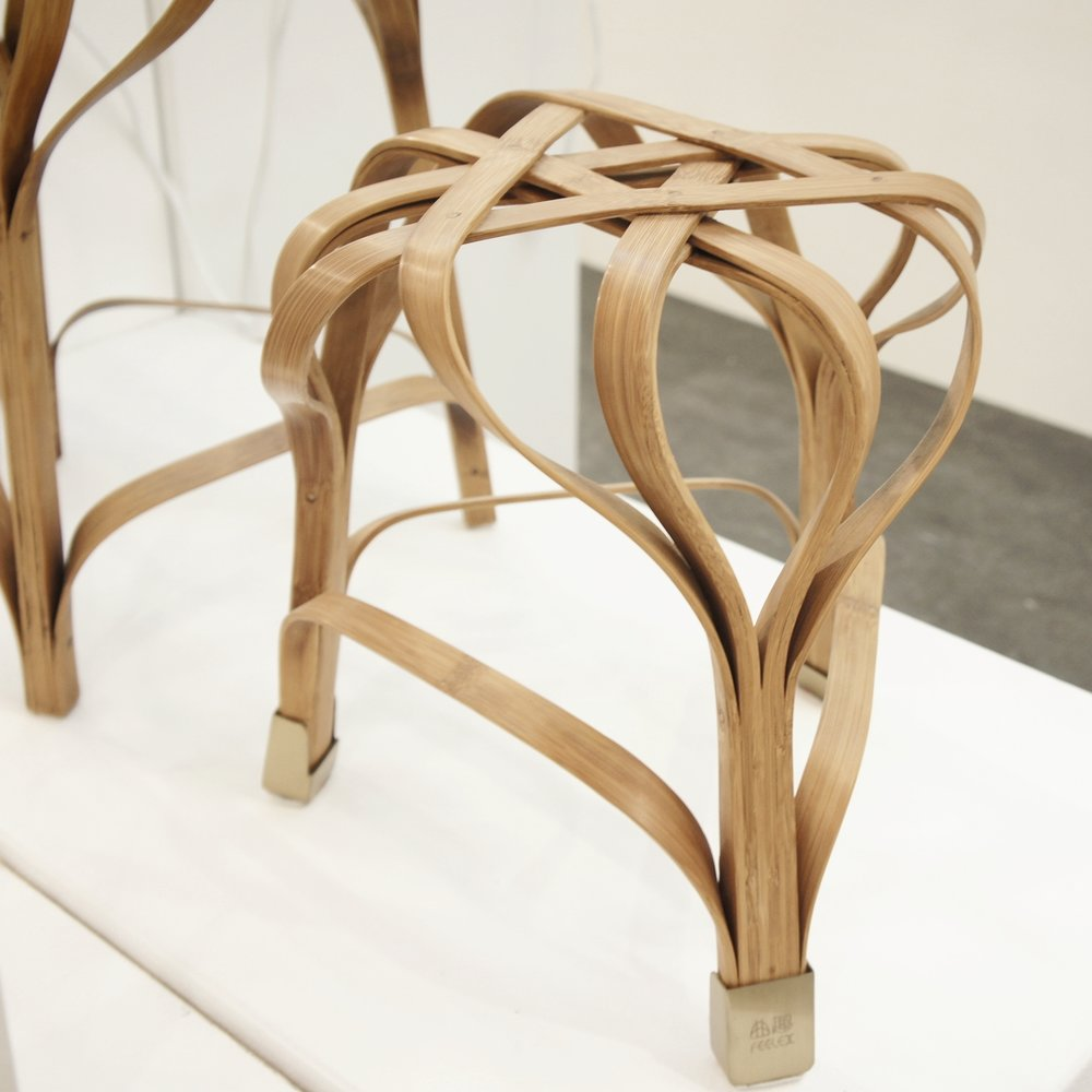 Feelex bent bamboo chair by Gong Qiaolin/Qiu Kushan/Wang Weijia, China Academy of Art @ @ London Design Fair