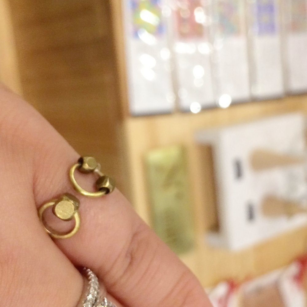 Cute brass ring.