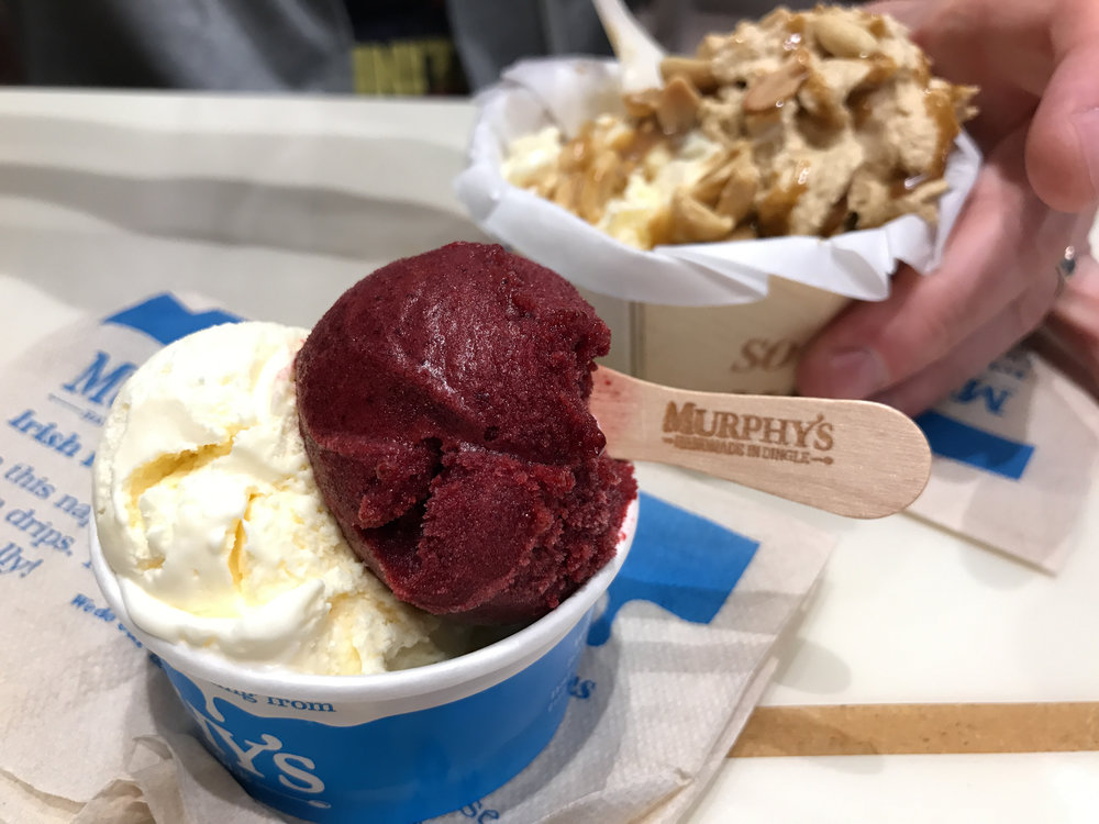My favorite find in Ireland, Murphy's ice cream. Luckily, they have several locations in Ireland and I tried 3. Light, fresh, not too sweet. The sorbets are packed with flavor.
