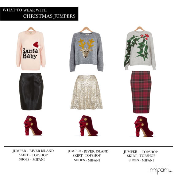 Check out three festive looks to wear with our Hurley red boots. Jumpers from River Island and Topshop How did you wear yours?