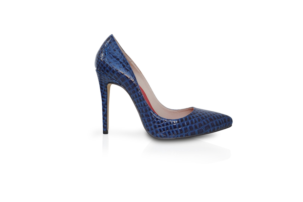 Blue mock croc heels — Mifani | Womens Designer Shoes, High Heels ...