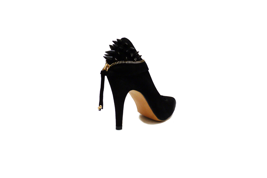 84d4cf6a404 Coco - Black suede point toe spike heel stiletto