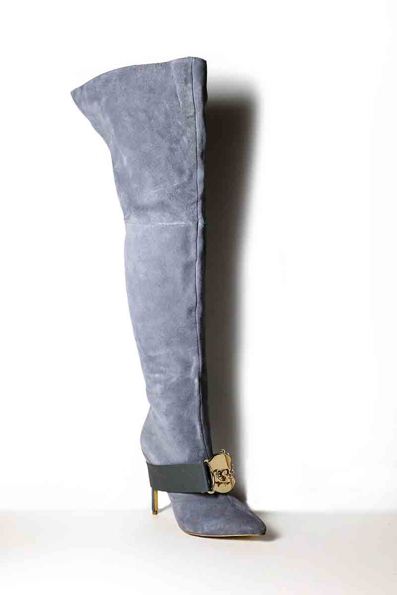 2b26ac3ec5 GOTK - Grey over the knee boots — Mifani | Womens Designer Shoes ...