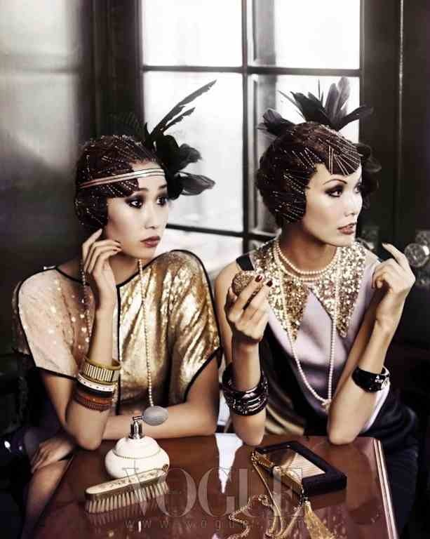 Great Gatsby 1920's Vintage Hens