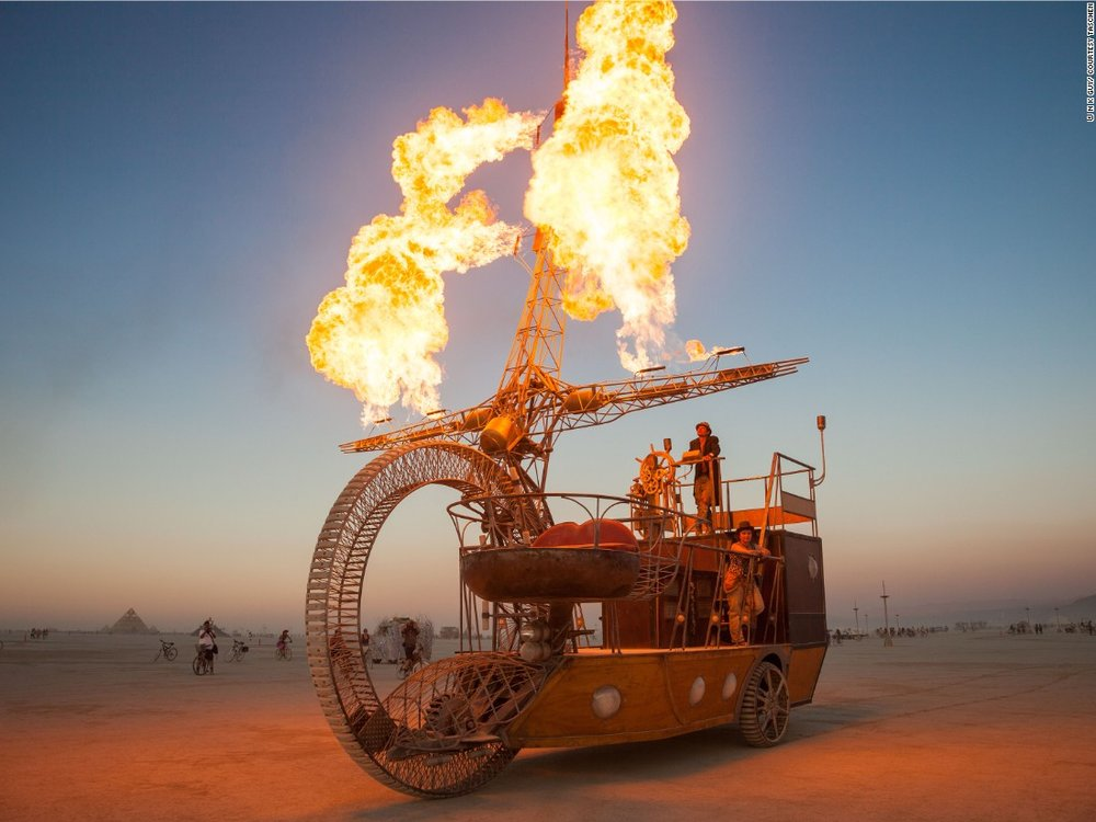 Caption: Burning Man 2015 - http://edition.cnn.com/2015/08/28/travel/burning-man-2015-feat/