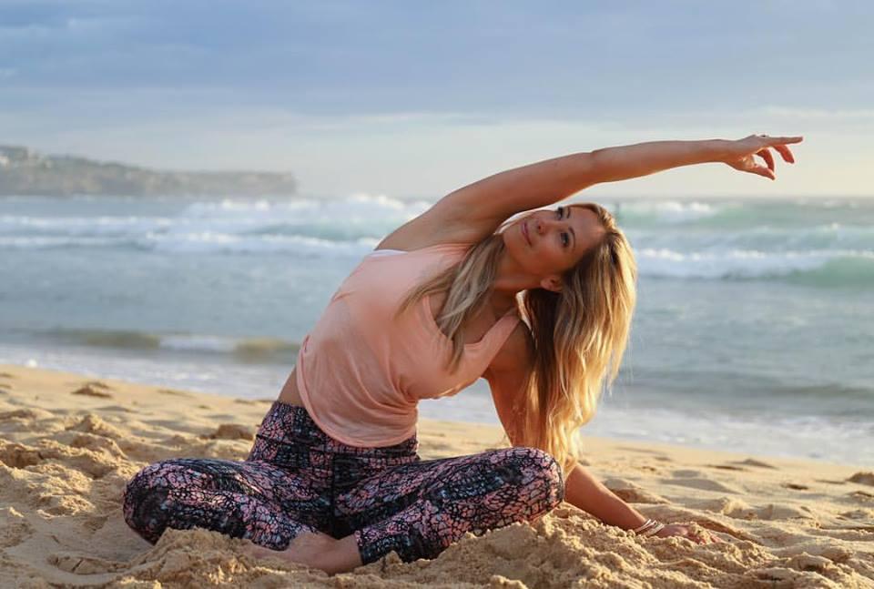 Image Ref: Blossom Yoga Instructor Anna Swain, Coogee Beach Sydney.