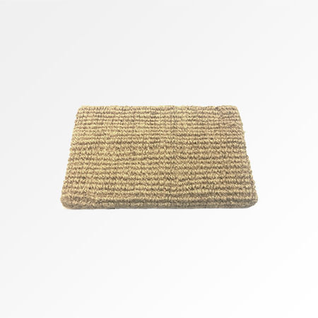 Wall Shelf in Bleached Coir Pile Carpet