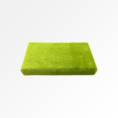 Wall Shelf in Green Twist Pile Carpet