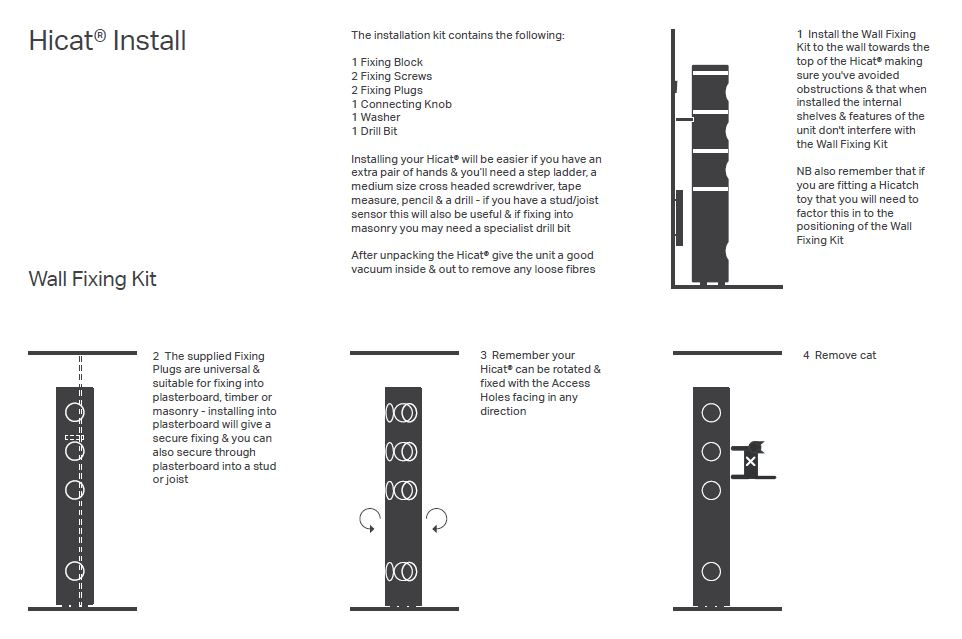 Wall Fixing Kit Diagram