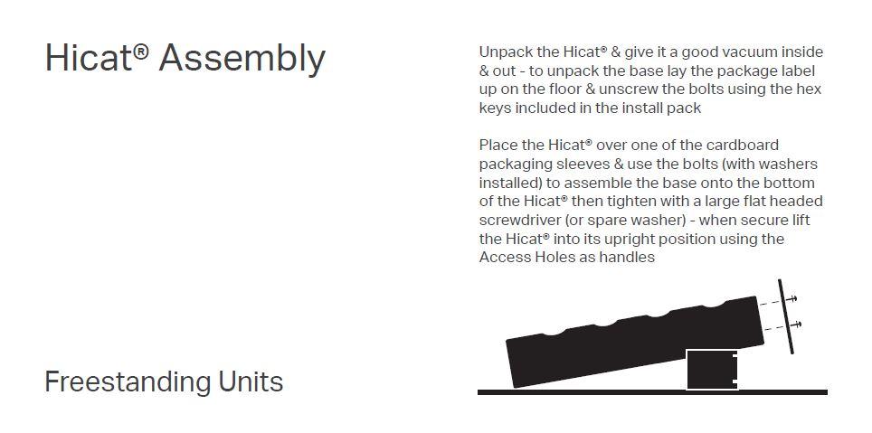 Freestanding Unit OInstall Diagram
