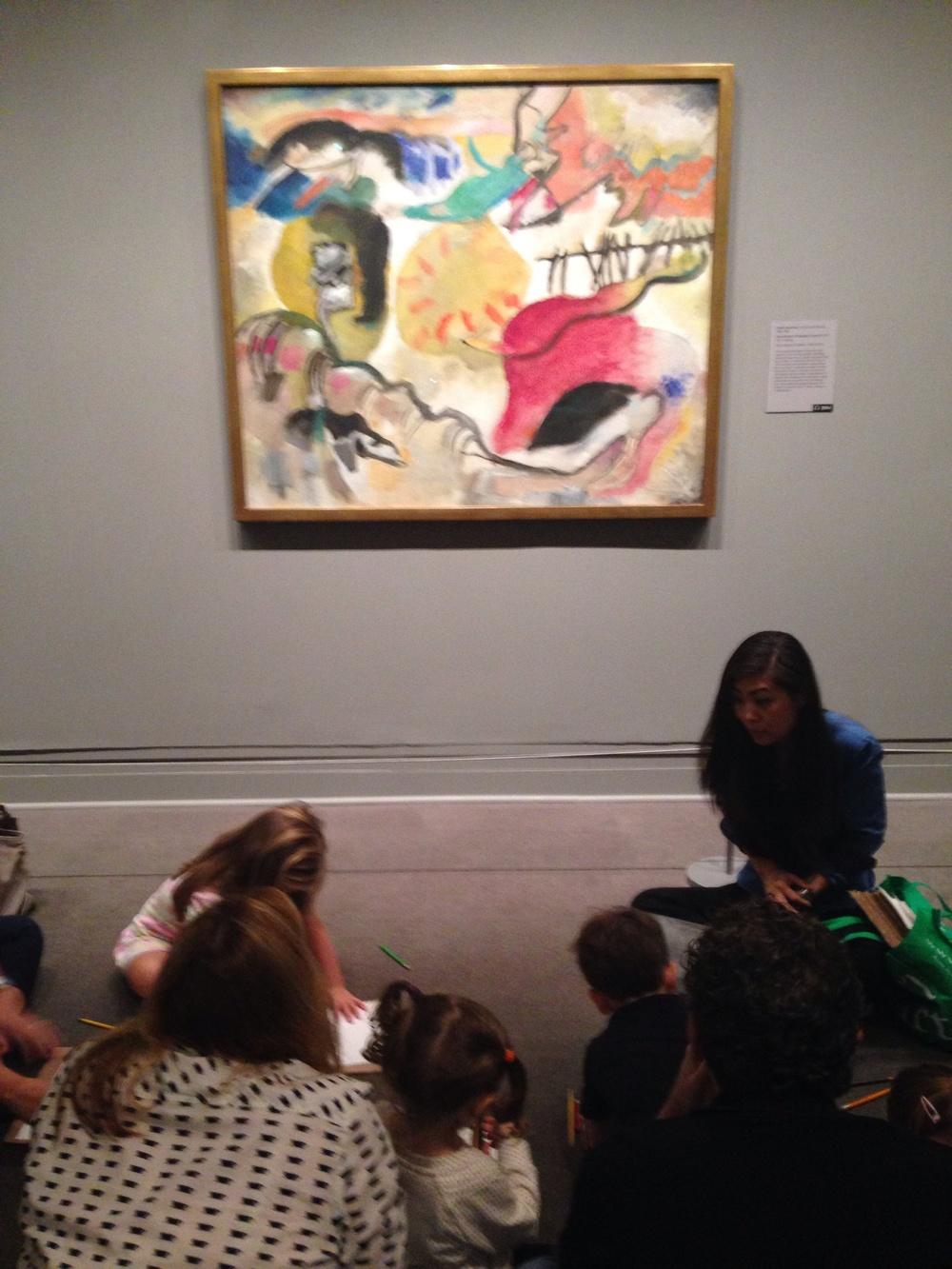 "In front of Vasily Kandinsky painting -""Improvisation 27"""