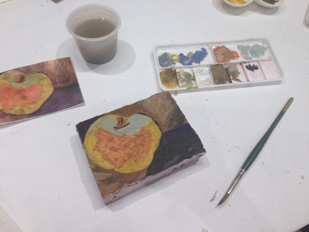 Al Fresco painting workshop. 8/4/2015.