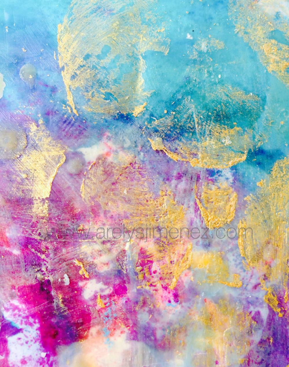 Encaustic painting.