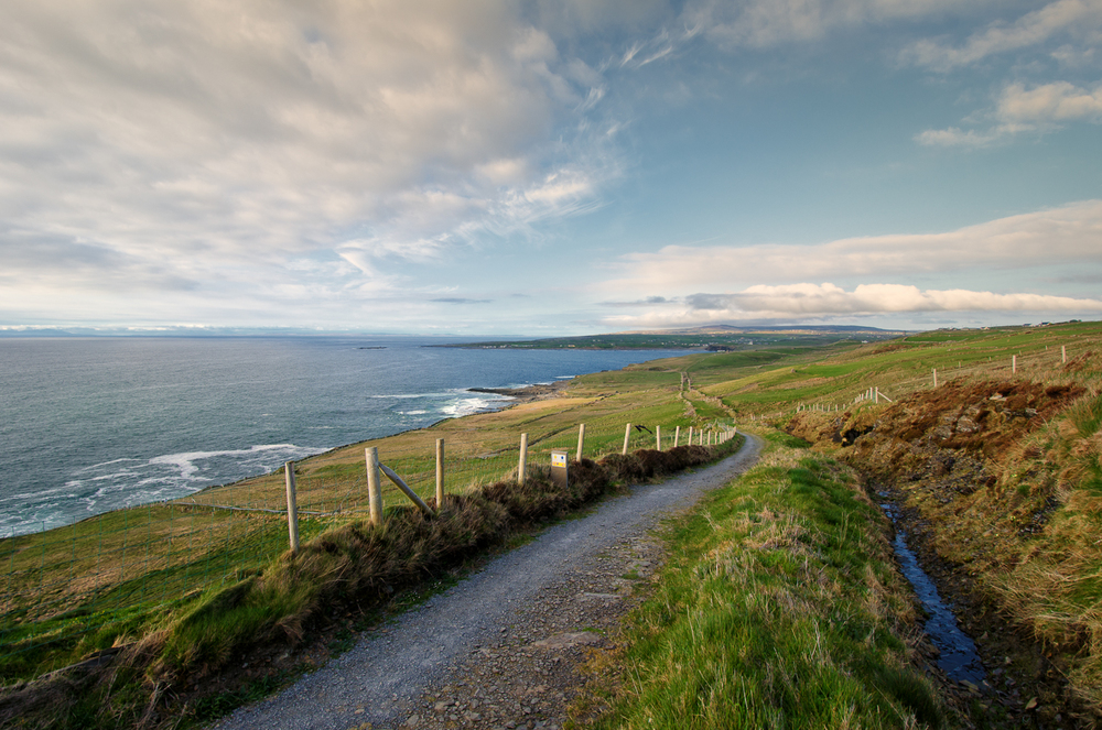 Looking back towards Doolin