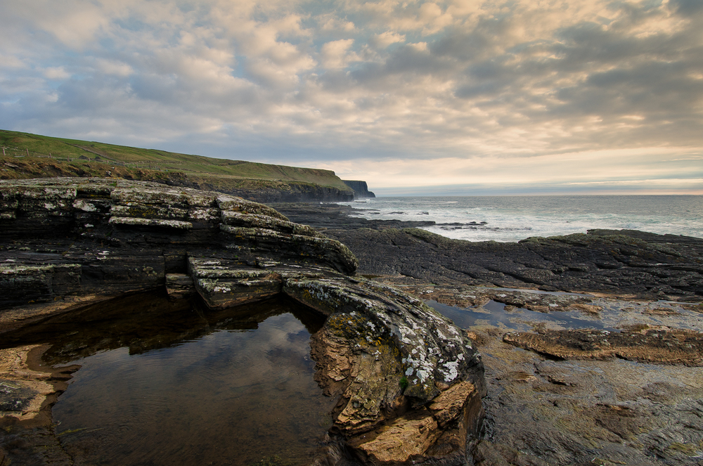 A rock pool near Doolin.