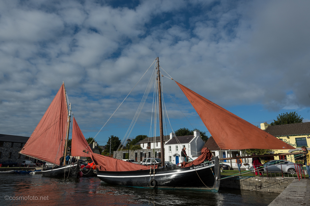 9am in Kinvara, getting ready for the race