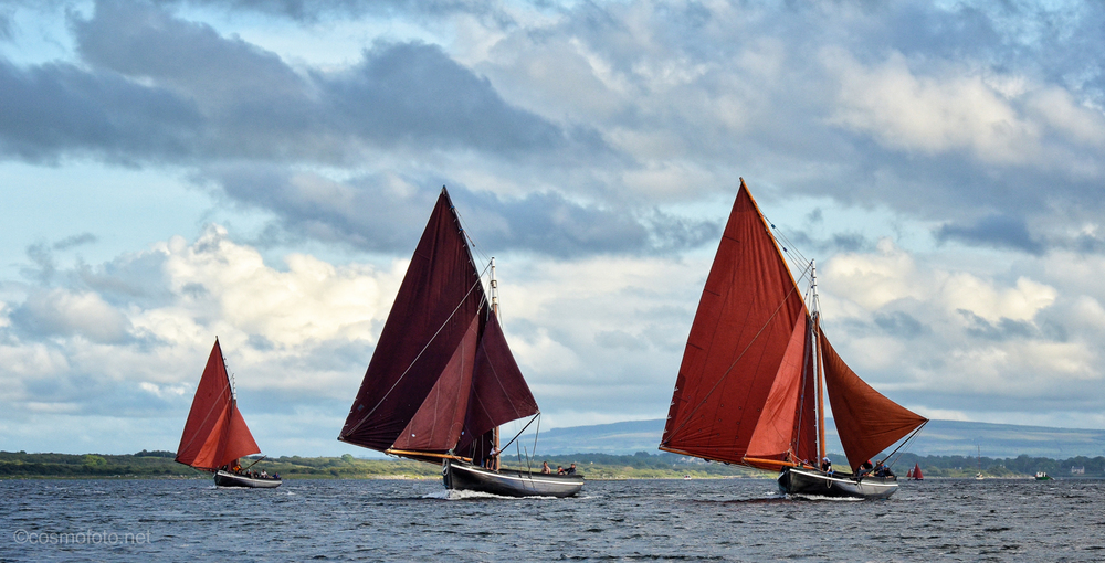 P.S. This is probably my all time favourite Cruinniu picture, taken in 2012, three boats sailing in Kinvara bay.