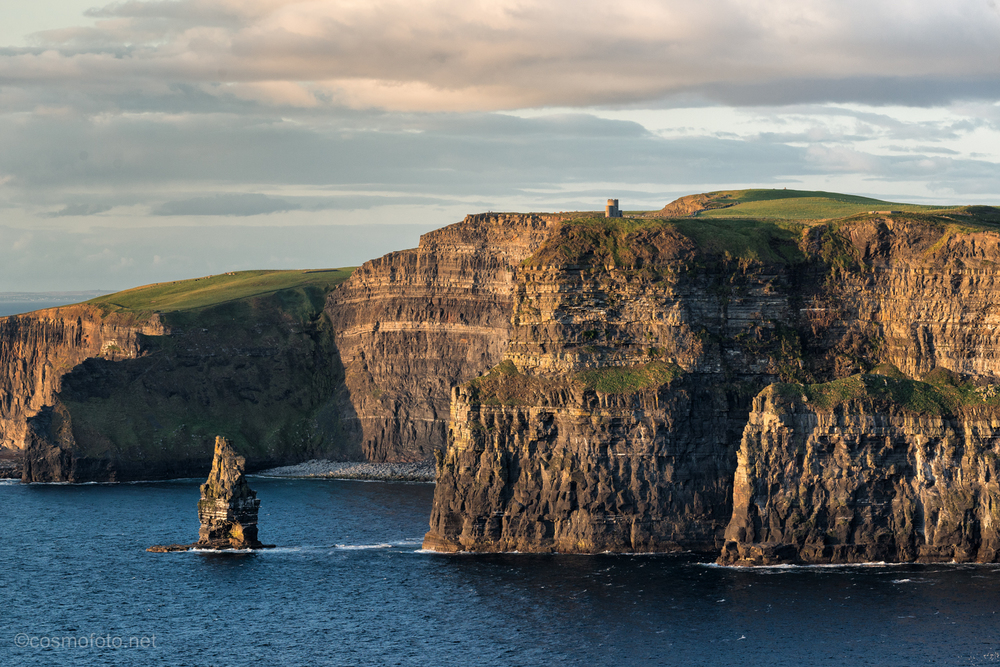 View towards the Cliffs of Moher, you can see O'Brien's tower on the cliff top.