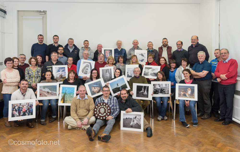 Galway Camera Club with the National Shield.