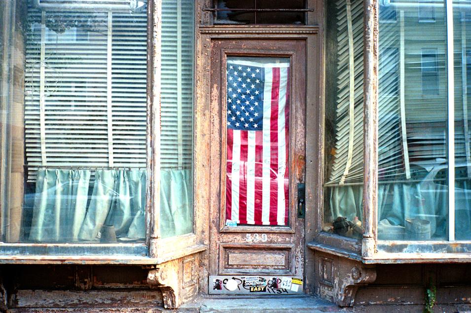 NYC Streets - Flag In Window copy.jpg