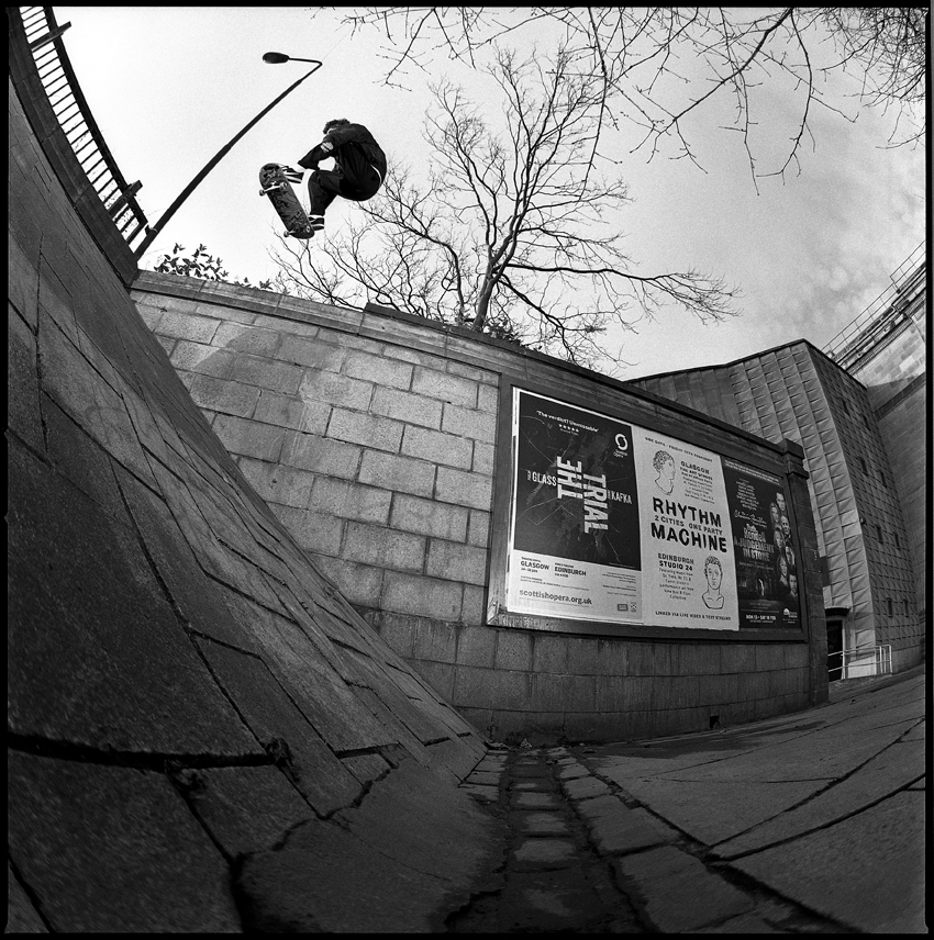 Ollie into the bank