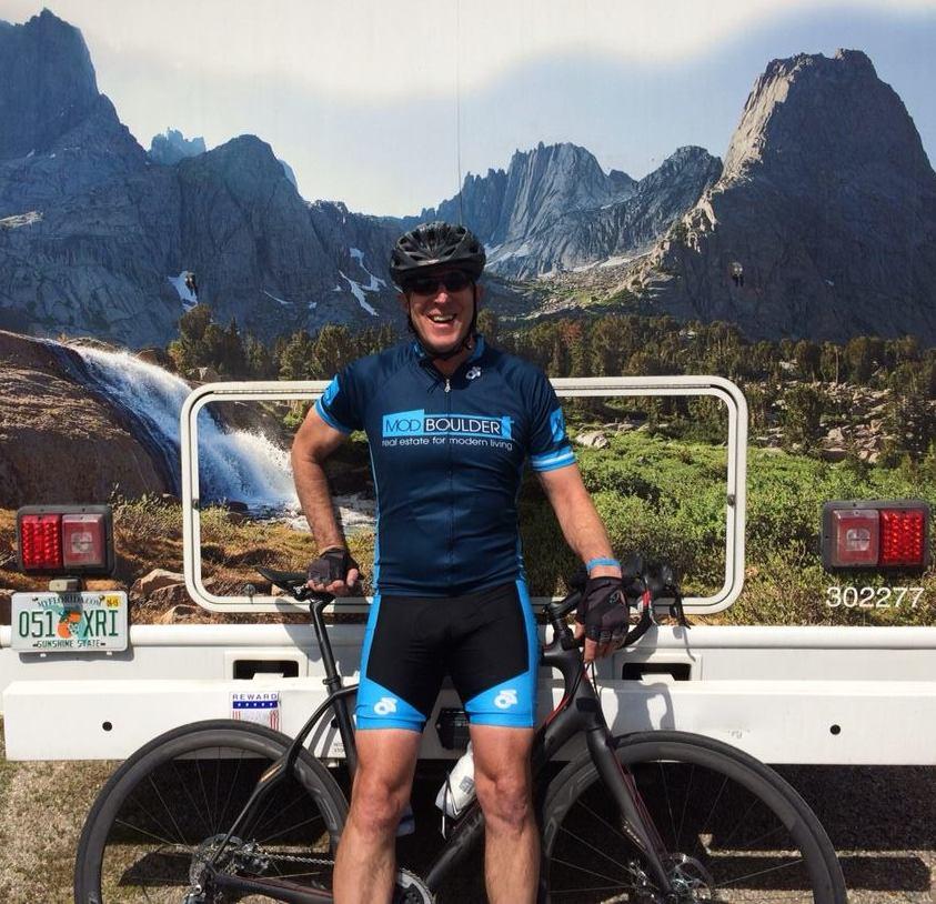 Mark at Ride the Rockies 2014