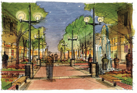 Everett Zeigel participates in the design of the Pearl Street Mall, putting his firm on the national map as visionary urban planners and designers. (Photo courtesy OZ Architecture)
