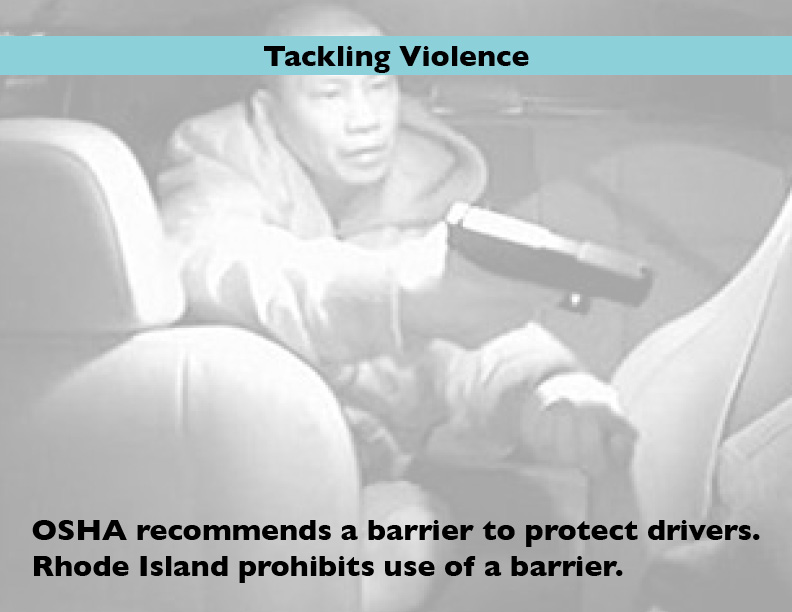 Violence is one of the biggest problems taxi drivers face.