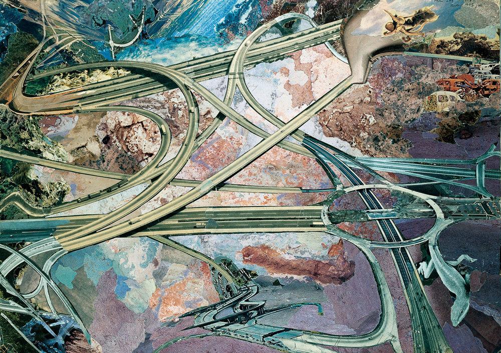 Trafiknettet Nils Ole Lund 1979 http://monikaplatform09.blogspot.com/2011/11/nils-ole-lund-collages.html