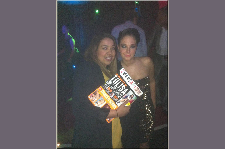 DJing at FHM 100 party with winner Tulisa