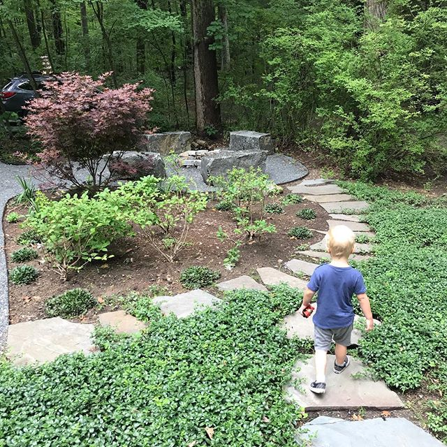 #kplusrtinyintern inspects new landscaping at our Michigan headquarters