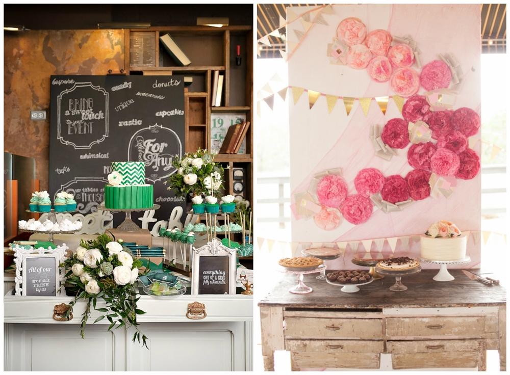 Sweet Table via Hostess with the Mostess; Al Gawlik via Ruffled