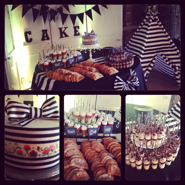 The delicious  dessert table  at our  Open Barn 2014