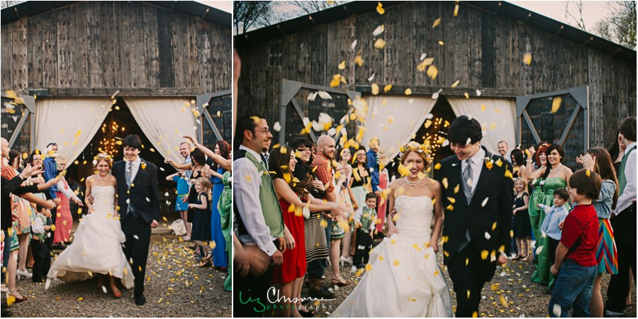 Liz Chrisman Photography , from  Sasha + Nathan 's beautiful yellow and green wedding at The Barn