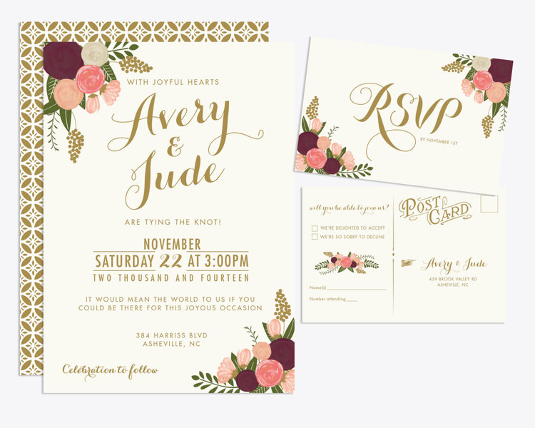 How I Spent Under On My Wedding Invitations The Barn At Twin - Printable wedding invitation templates