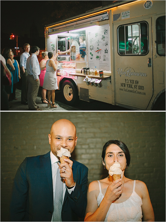 An ice cream truck ! Your guests would absolutely LOVE this idea.