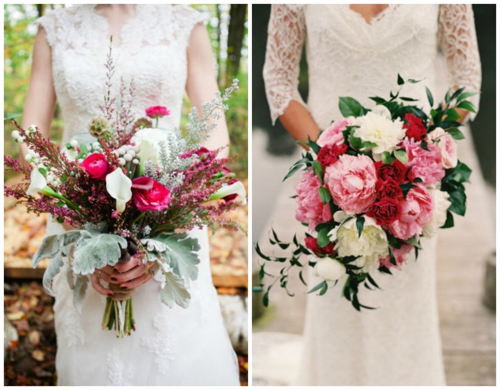 Style Me Pretty ;  Style Me Pretty . These bouquets are elegant and timeless.  The colors are stunning!