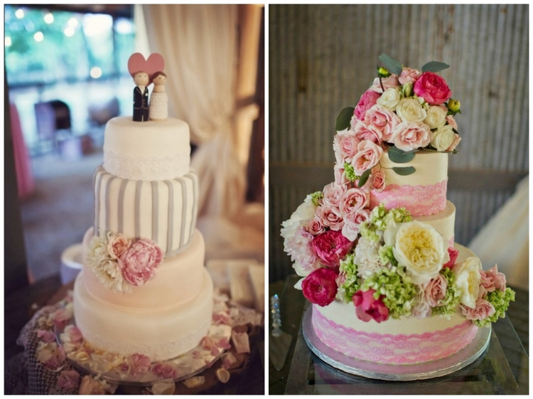 Made by our preferred vendor,  theCakePlace !  Kerrie + Stefan  , from   Ashley + Justin  's sweet pink wedding;   Melissa McCrotty Photography  , from   Bayley + Lucas  's Southern pink wedding