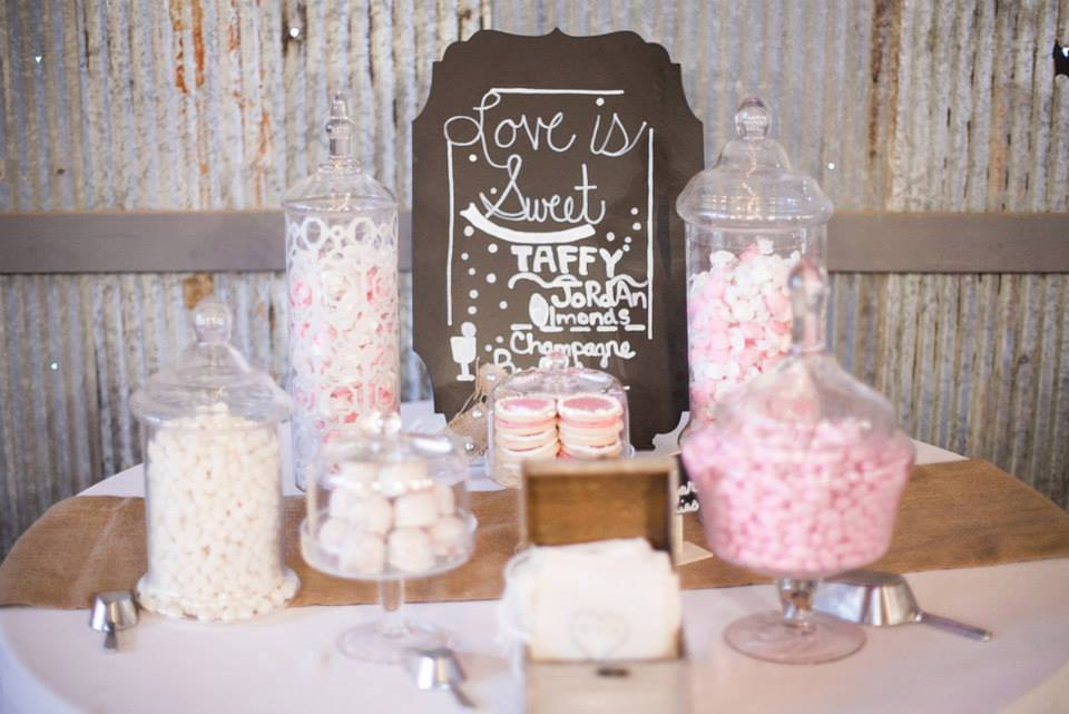 Twin Town Studios .  Nikki + Scott 's pink candy buffet was pretty AND delicious.