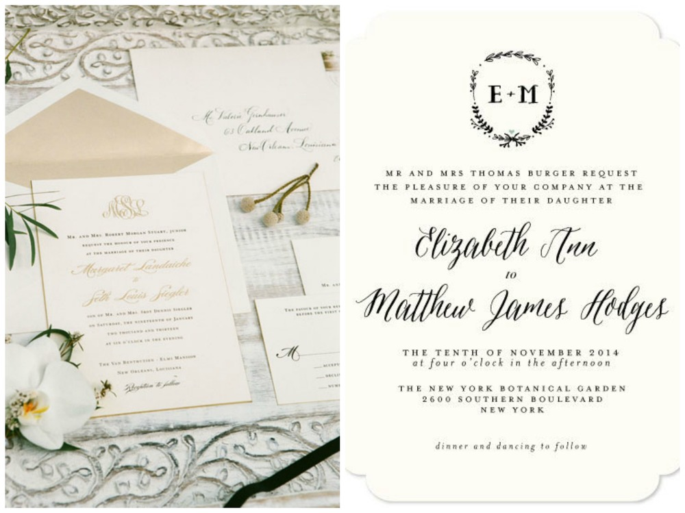 Southern Weddings; Minted