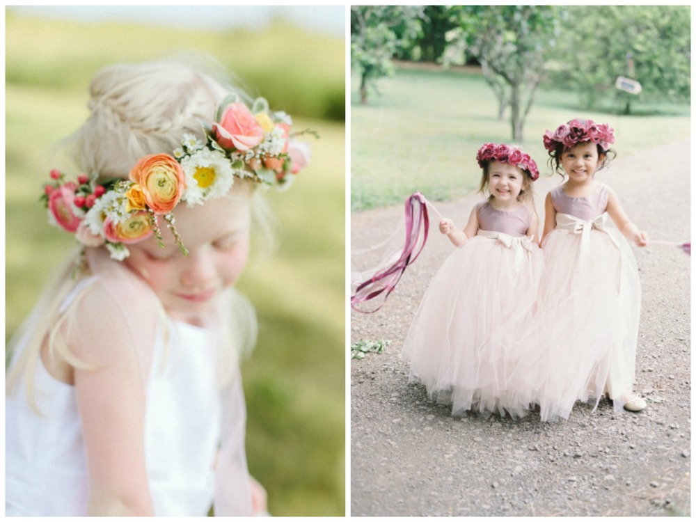 Style Me Pretty ;  Style Me Pretty . Flower crowns on little girls is the. absolute. cutest.
