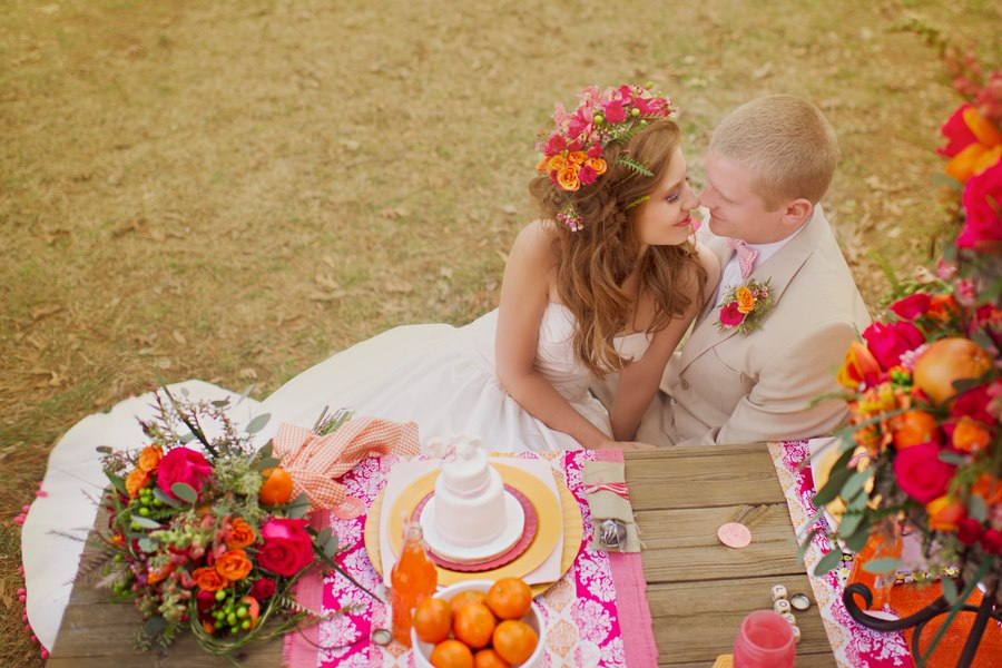 Melissa McCrotty Photography , from our  Hot Pink Kisses  styled shoot. This flower crown is unreal! It's beautiful.