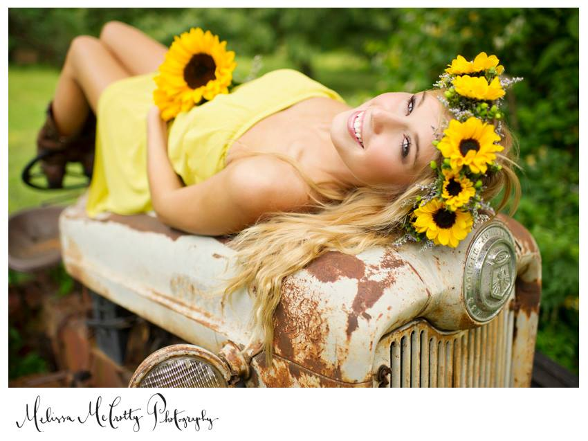 Melissa McCrotty Photography, from our Chickin -n- Biskits styled shoot. This sunflower crown is the prettiest! And apparently we have a thing for flower crowns at styled shoots. ;)