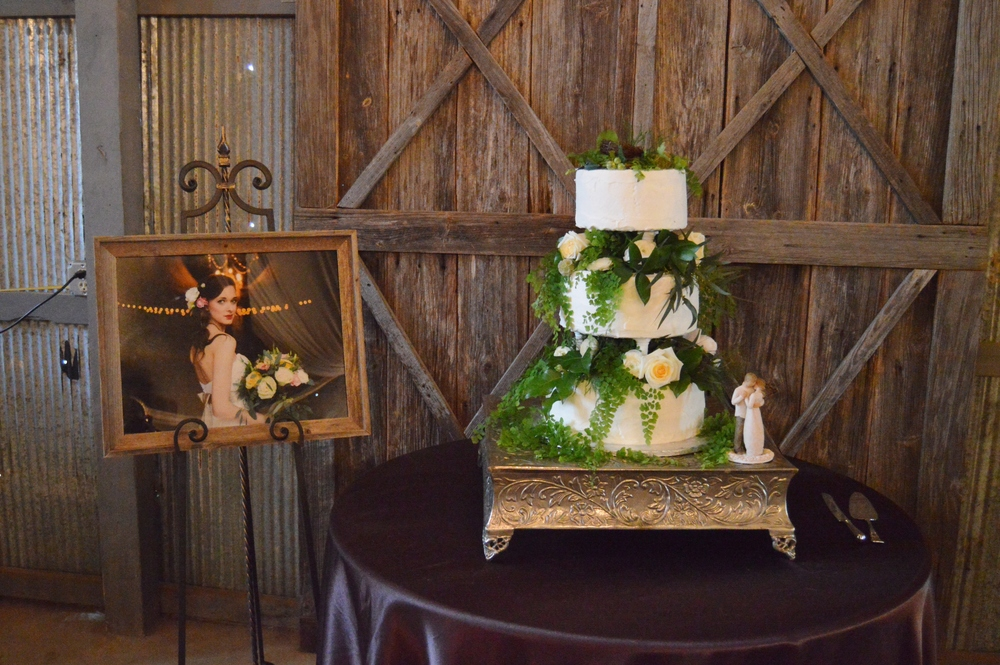 A simply stunning cake, as well as one of Kelsey's bridal photos.