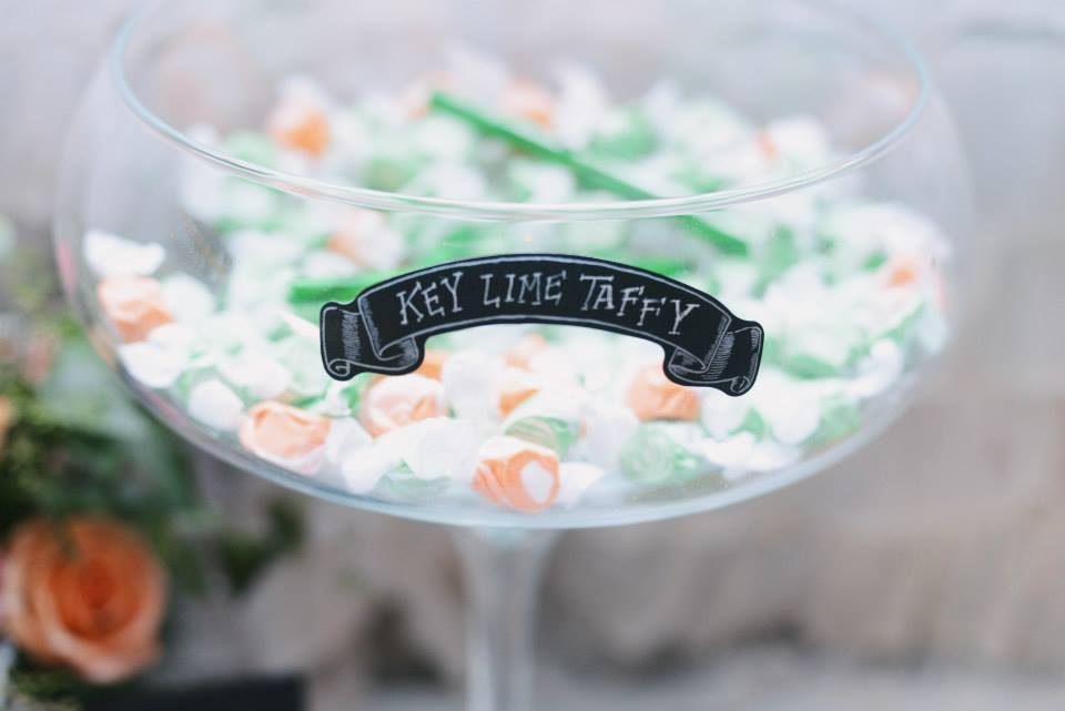 Andrew Arceri , from  Megan + Daniel 's wedding at The Barn. A colorful candy buffet is always a winner!