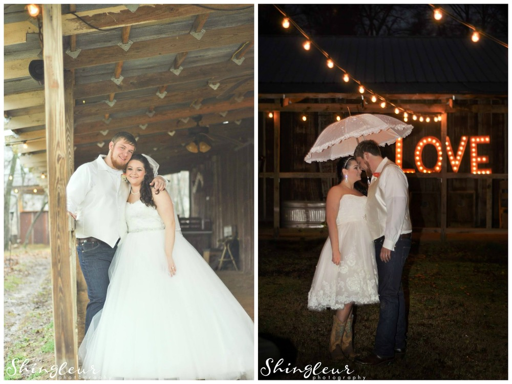 Shingleur Photography , from  Brittany + Tyler 's wedding at The Barn. The only thing better than one gorgeous dress? Two of them! Brittany changed from this fairy tale ballgown into this short, sweet number for her reception. I can't decide which one I love more!